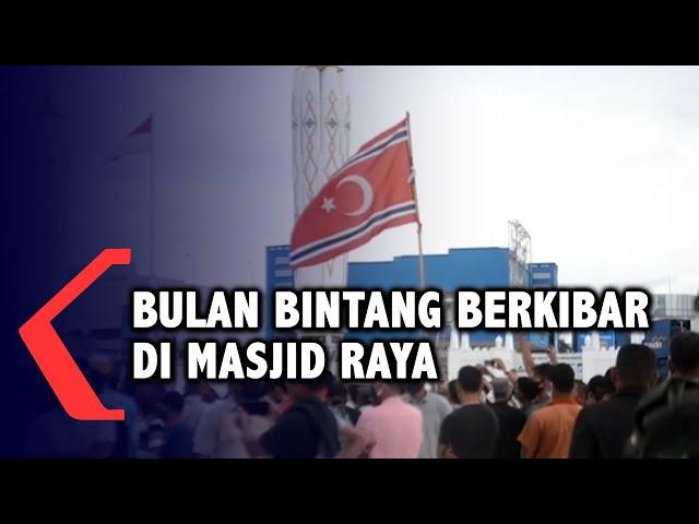 Peringatan Milad ke-44 GAM, Bulan Bintang Berkibar di Masjid Raya Baiturrachman