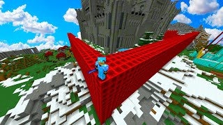 MUUR VAN 1000 STACKS REDSTONE BLOCKS IN MINECRAFT