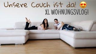 WIR HABEN UNSERE COUCH! 😍 XL Wohnungsvlog - Ebru & Tuncay ❤️