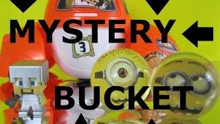SURPRISE BUCKET Minecraft Blind Bags Disney Jr. Mystery Egg Minions TMNT Ninja turtles