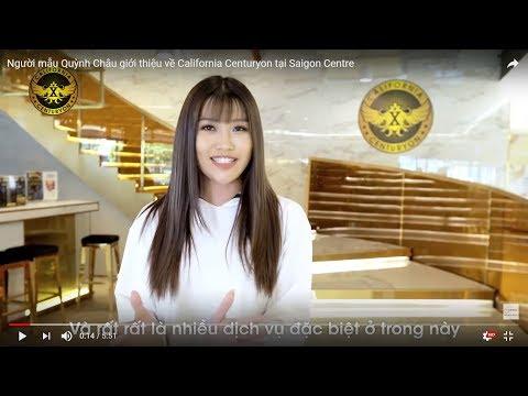 Người mẫu Quỳnh Châu giới thiệu về California Centuryon tại Saigon Centre