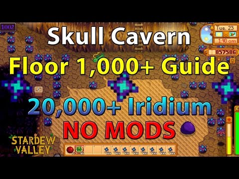 Stardew Valley Guide: Skull Cavern Floor Level 1,000 + Explained | OVER 9,000 Iridium | NO MODS