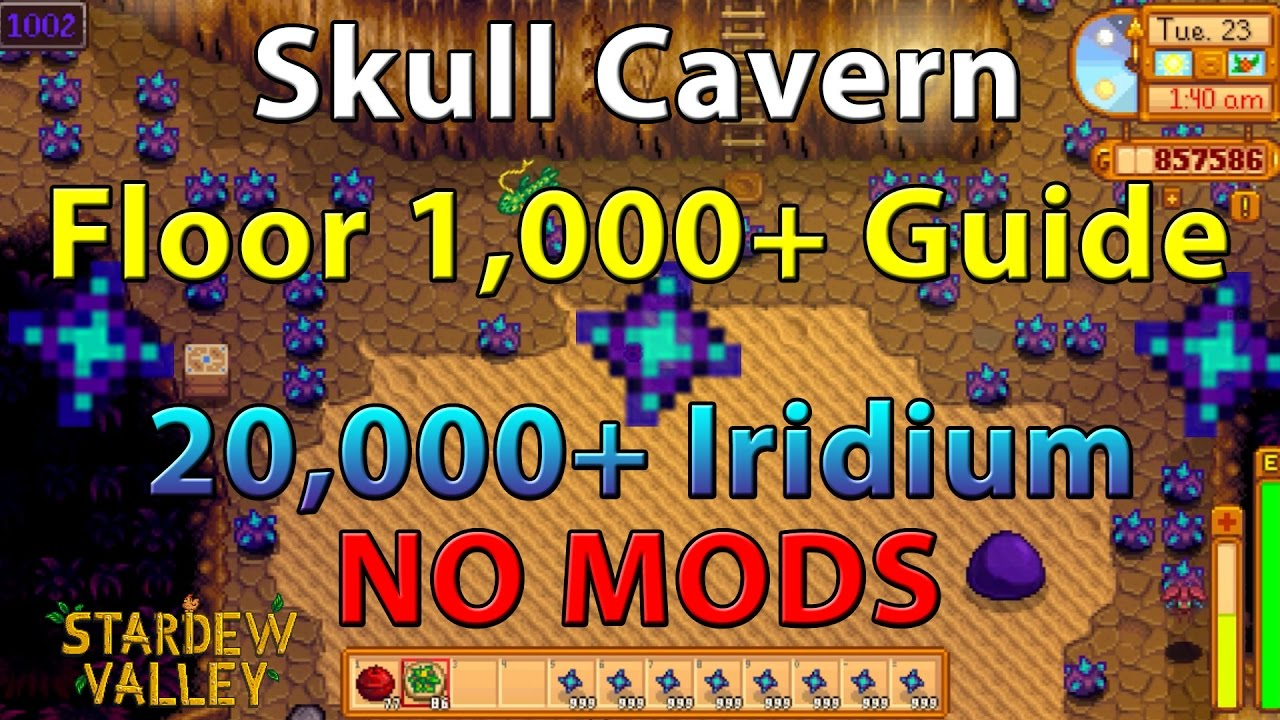 Stardew Valley Guide Skull Cavern Floor Level 1 000 Explained Over 9 000 Iridium No Mods Youtube