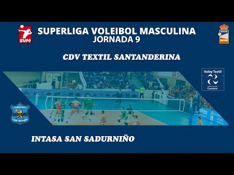 SVM1819 - Jornada 9 - Voley Textil Santanderina vs Intasa San Sadurniño