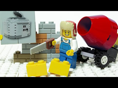 Lego Brick Building - Bunker - Inspirational DIY Satisfaction Animation