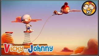 Vicky & Johnny | Episode 15 | BUNGEE JUMPING | Full Episode for Kids | 2 MIN