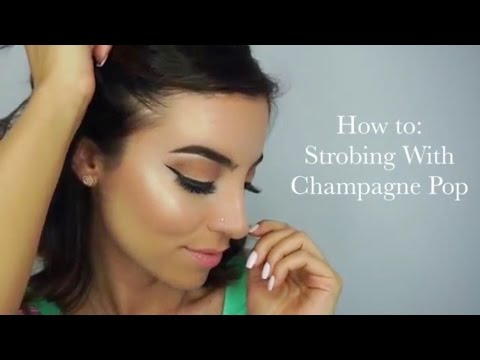 How to: Strobing / Jaclyn Hill BECCA Champagne Pop Highlighte - BilintinaMakeUp thumbnail