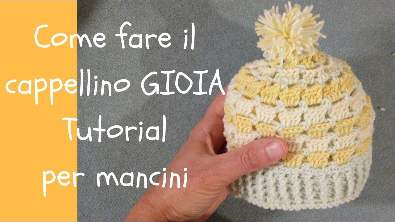 Cappellino Uncinetto Per Neonato Da 0 A 3 Mesi Gioia By