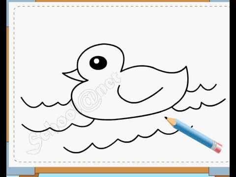 BÉ HỌA SĨ - Thực hành tập vẽ 44: Vẽ vịt con