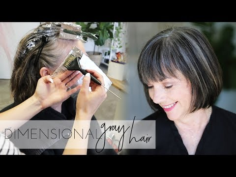 How to add dimension back into Natural Gray Hair Color | Transition to Gray Hair Naturally