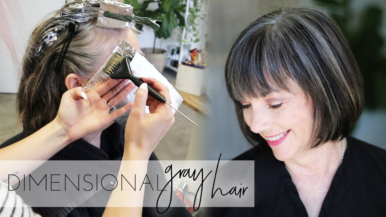 How To Add Dimension Back Into Natural Gray Hair Color Transition To Gray Hair Naturally