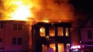 Newark, NJ 3rd Alarm House Fire Fully Involved (South 20th ST) 4/13/14 P-1