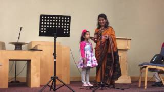 Paavani (4.5 years) singing Lakdi Ki Kathi with Karaoke