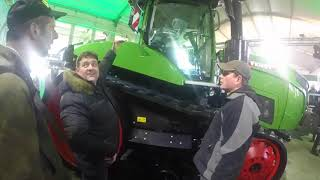 The 3 Wise Monkeys check out the Fendt Vario 943MT