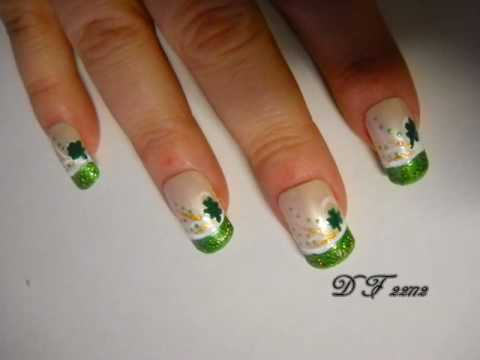 St Patrick39s Day Nail Tutorial Quotluck O39 The Irishquot Youtube