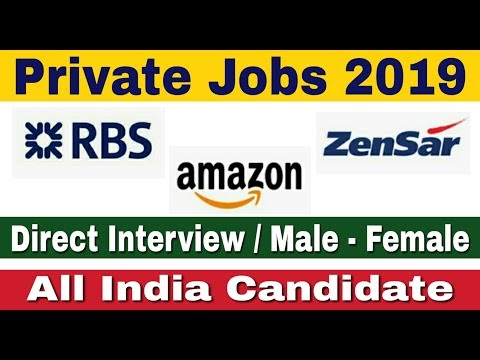 Private Jobs 2019 II Freshers Private job 2019 II Private jobs for freshers II Apply Online