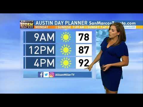 Weather Hit  Allison Miller  7 Months Pregnant