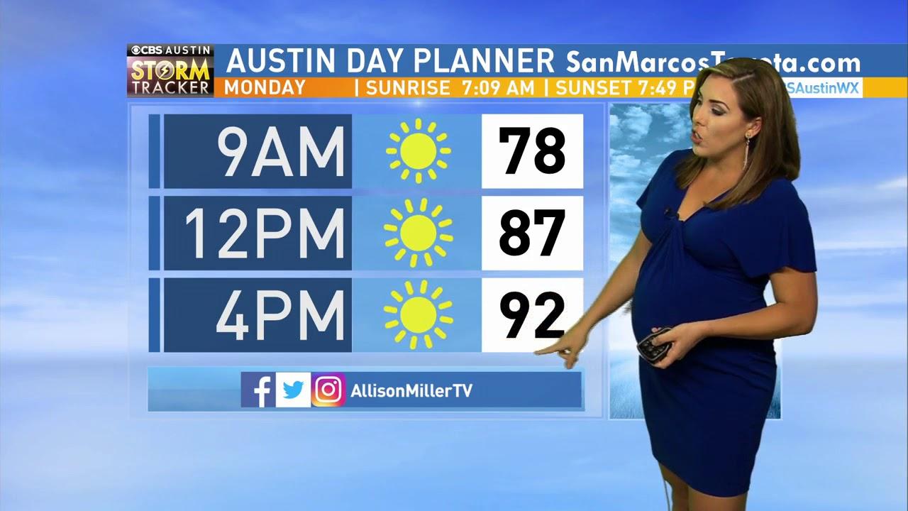 Allison Miller Videos weather hit - allison miller - 7 months pregnant