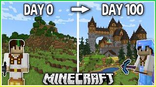 I Spent 100 Days Building a Minecraft Mega Base!