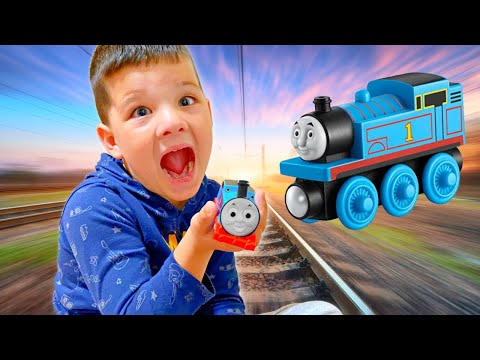CALEB PRETEND PLAY FUN with TRAINS!! Caleb and MOMMy PLAY PRETEND with tHOmas & FRIENDS TRAIN TOY! |