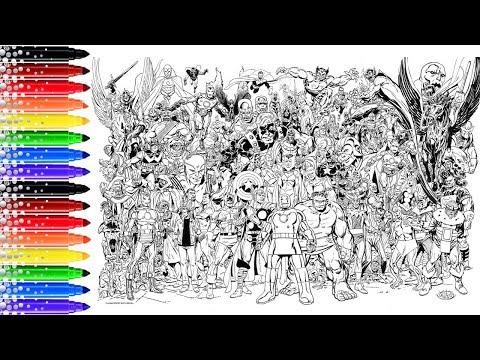 Pro Coloriage Xxl Marvel Avengers Youtube