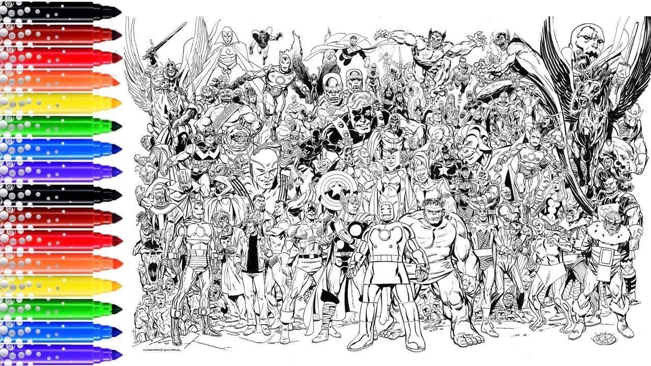 Pro Coloriage Xxl Marvel Avengers