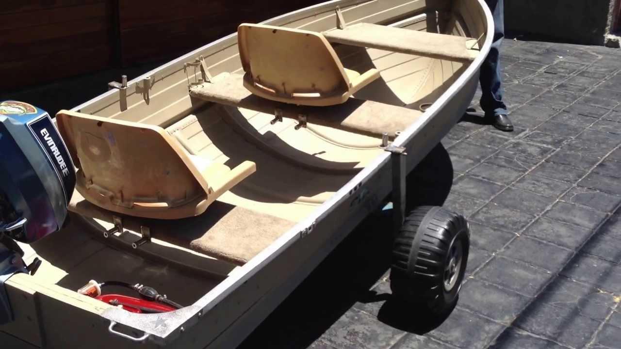 Lancha aluminio starcraft 12 pies con Evinrude 4hp 2 ...