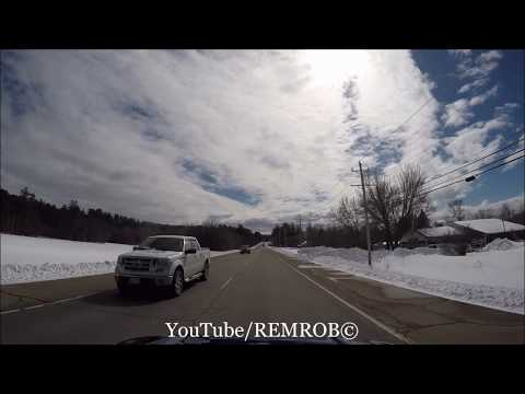 Winter Driving Tour Of North Conway, New Hampshire 2017