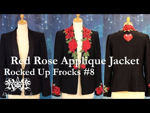 How To Add Flower Patches To A Jacket. Rocked Up Frocks By Rockstars And Royalty - Episode 8