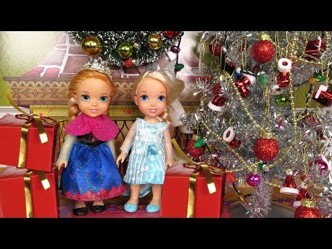 Christmas ! Elsa And Anna Toddlers - Santa  Gifts - Tree Decoration