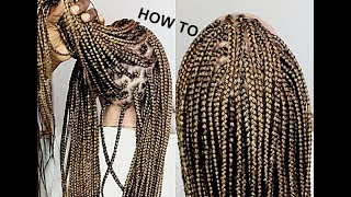 Water Method On Box Braids HOW TO- WATCH AND LEARN