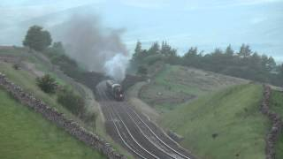 LMS 48151 Slogs towards Aisgill with the returning Fellsman on the 4/7/12