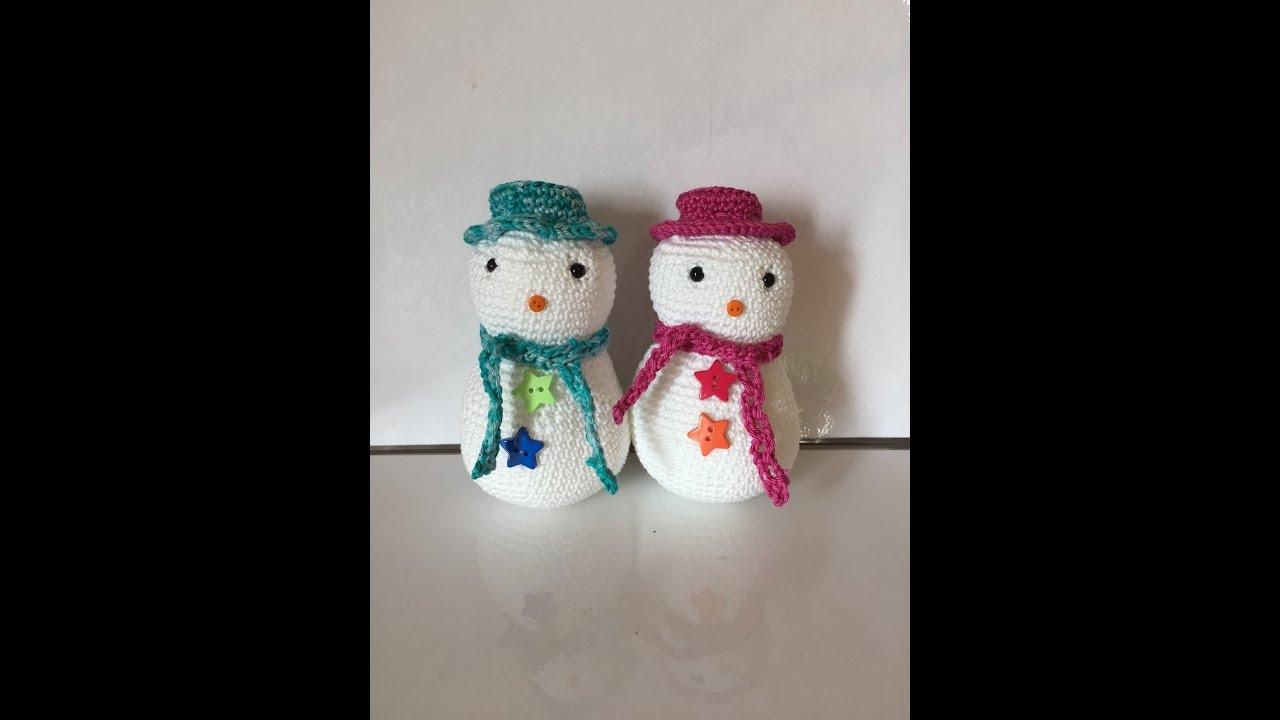 Tuto bonhomme de neige au crochet sp cial gaucher youtube - Bonhomme de neige au crochet ...