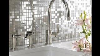 видео Мозаика в интерьере ванной и кухни: варианты дизайна