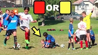 ⚽️Soccer Foul FIST to the FACE! Yellow Card, Red Card, or None?