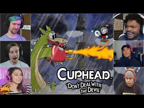 Gamers Reactions to Grim Matchstick (BOSS) Final Phase (Hydra) | Cuphead
