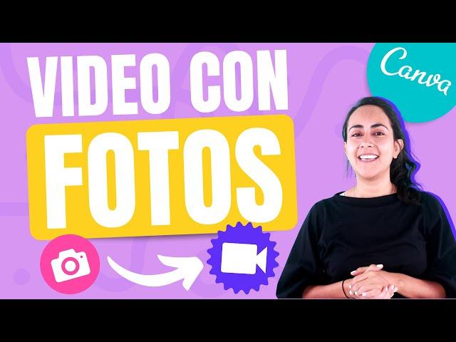 Cómo crear videos con fotos en Canva - tutorial de canva 2020 en español - añade motion en tus fotos
