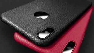 Sale iPhone X Case Leather Skin Soft TPU 6S 6 7 8 Plus 10 X Cover