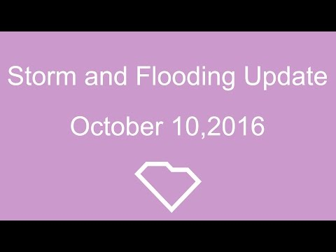 Governor Haley's Storm Update: 10/10/16 - 1:00 PM