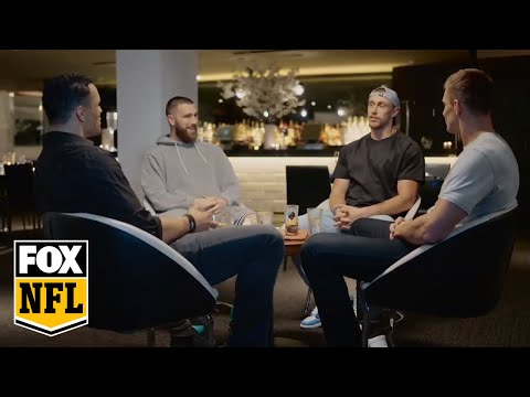 Travis Kelce & George Kittle join Tony Gonzalez & Rob Gronkowski for tight end only chat | FOX NFL