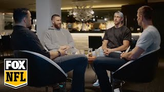 Travis Kelce & George Kittle join Tony Gonzalez & Rob Gronkowski for tight end only chat   FOX NFL