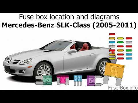 fuse box location and diagrams mercedes benz slk class (2005 2011 2005 Mercedes AMG V12