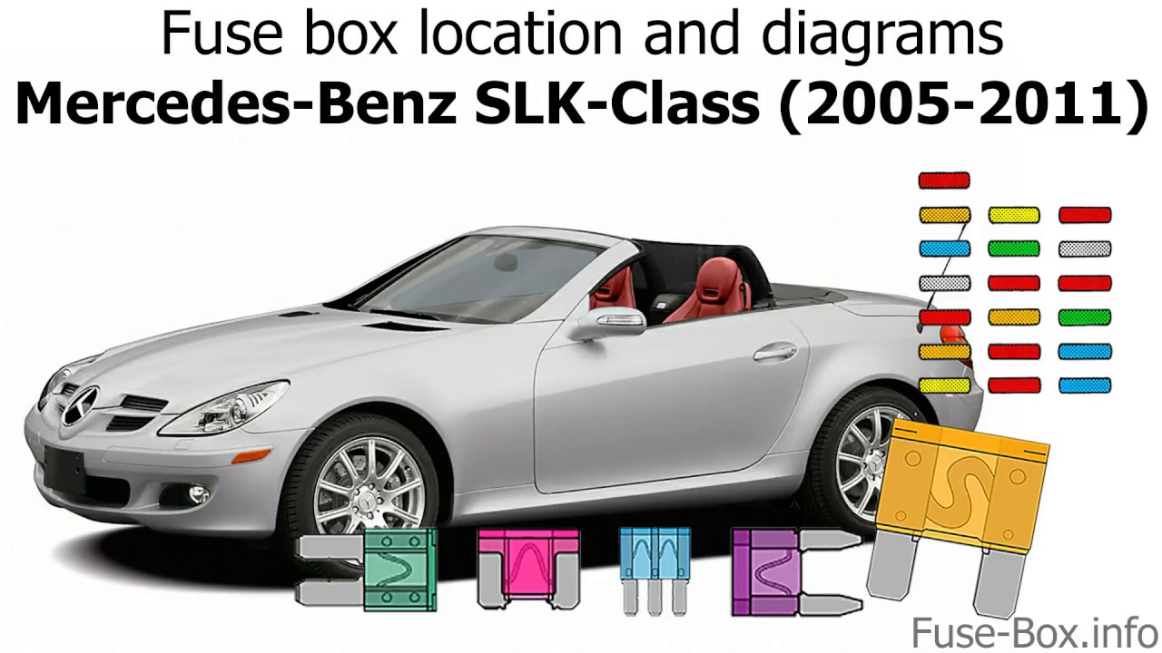 Fuse box location and diagrams: Mercedes-Benz SLK-Class (2005-2011)