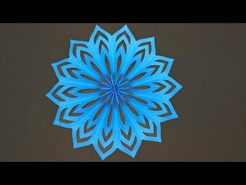 Easy Paper Snowflakes Star for Christmas | Easy Paper Snowflakes | Christmas Decoration