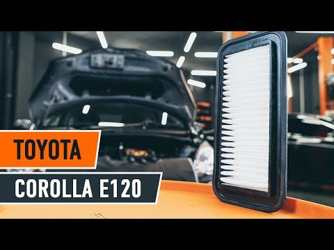 Wie Toyota Corolla E120 Luftfilter Wechseln Tutorial