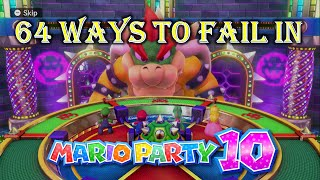 64 Ways to Fail in Mario Party 10