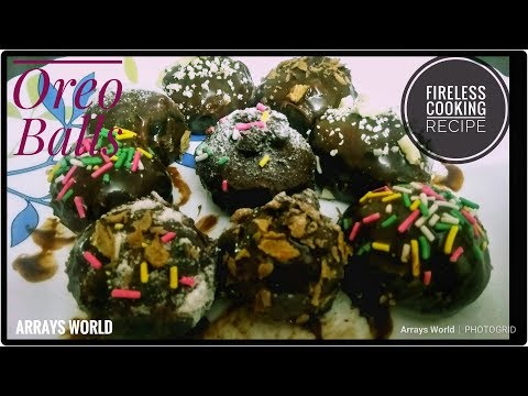 Fireless Cooking Recipe/Oreo Chocolate Balls/No Bake Kids Snacks||