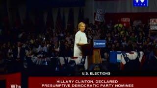 Hillary Clinton declared presumptive Democratic Party nominee