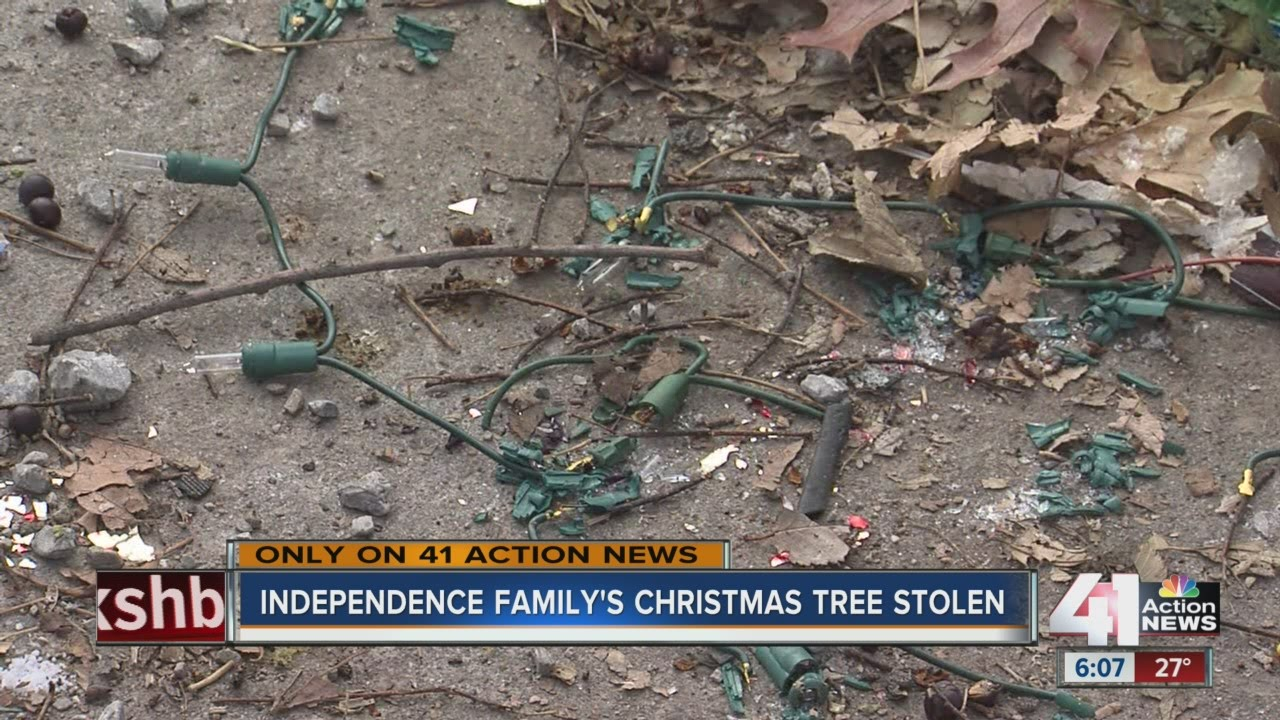 Real-life Grinch steals children's Christmas tree and decorations