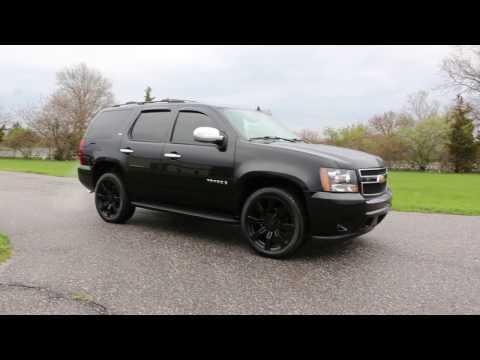 """2007 Chevrolet Tahoe LTZ For Sale~Black~LOADED~Navi~DVD~22"""" Wheels"""